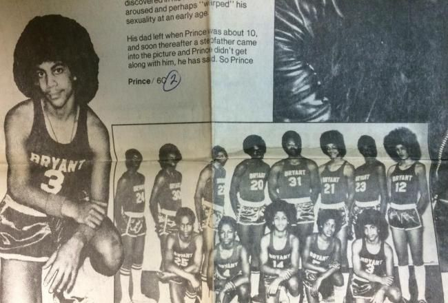 This made my day - a throw back photo of PRINCE, how I would've loved to seen him ball but that hairdo tho!!