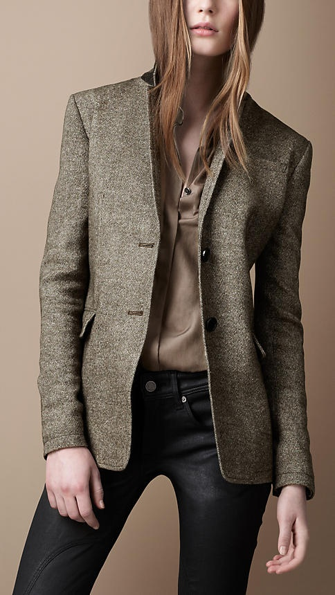 Burberry - LINEN BLEND ELBOW PATCH JACKET. I am actually trying to rationalize spending $550 on this I love it so much. Yikes :(