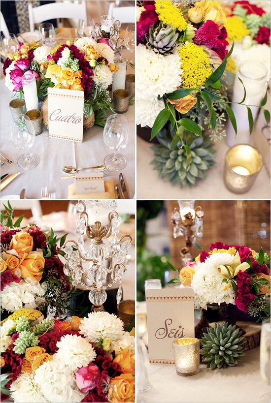 Florals & succulents done perfectly! p.s. I actually like how this whole wedding had a pretty spanish flair.