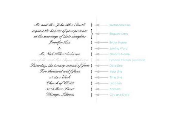 Ms de 25 ideas increbles sobre Formal wedding invitation wording