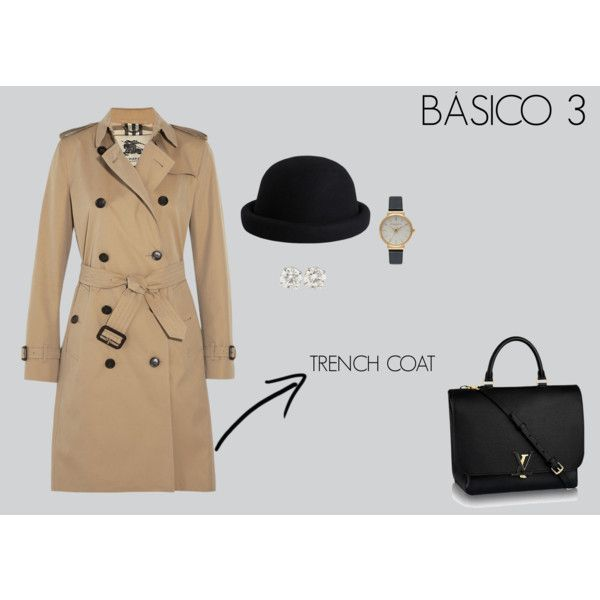 BASICO TRENCH COAT by marisol-fernandez-zumba on Polyvore featuring polyvore fashion style Burberry Olivia Burton Pieces