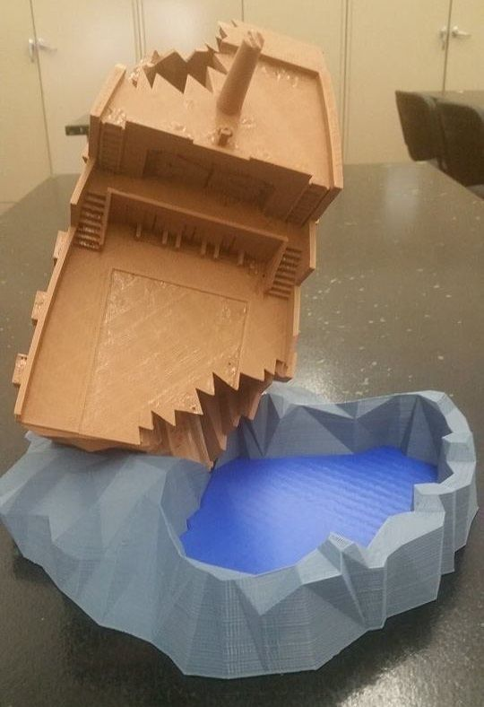 Pirate Shipwreck Dice Tower by TastyLlama - Thingiverse | 3D
