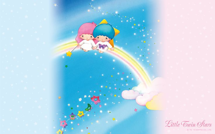 【Android iPhone PC】Little Twin Stars Wallpaper 201508 八月桌布 日本草莓新聞