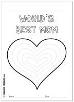"""""""World's Best Mom"""" Mother's Day coloring page/card freebie   #mothersday"""