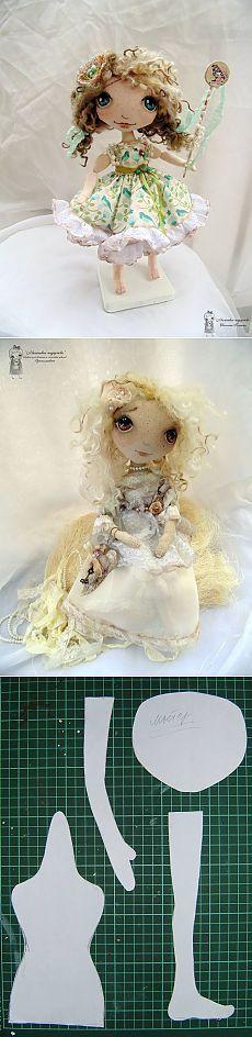 Boneca de pano doce - PatronesMil
