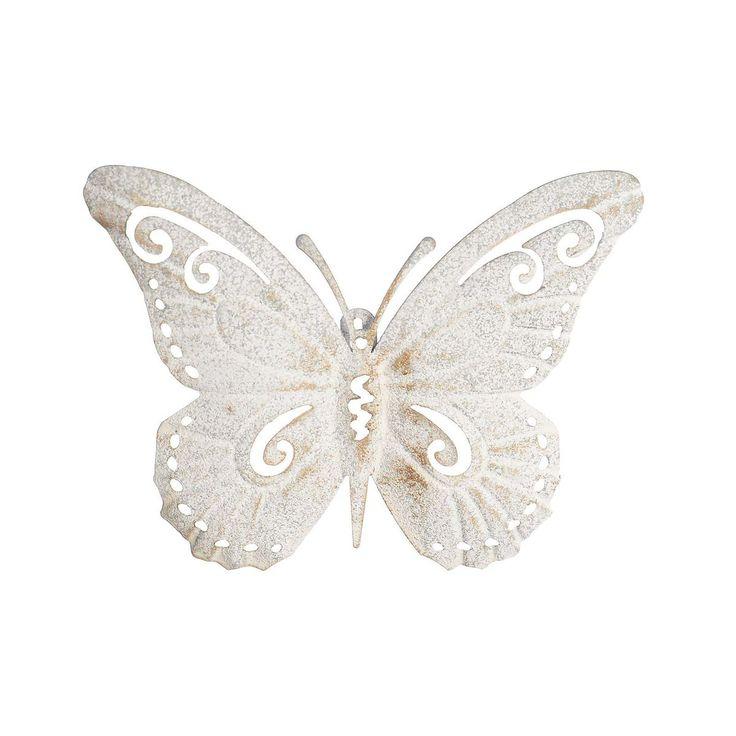 Inspirational Wanddeko Schmetterling hellgrau ca B x L cm