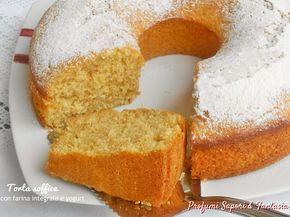 Preparare la torta soffice con farina integrale e yogurt è facile e veloce. Oltre ad essere buona potrete variarne il sapore con yogurt di gusto diverso.