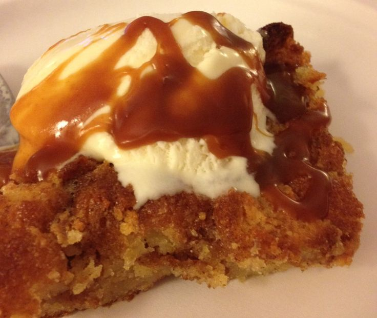 Cider Mill Donut Bread Pudding (with vanilla ice cream and salted ...