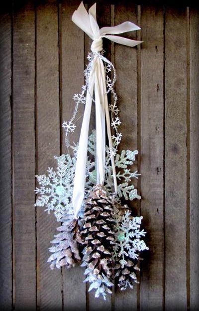 handmade snowflake decorations in modern interiors