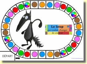 jeu du allant avec le livre: le loup qui voulait changé de couleur .. Très intéressant!