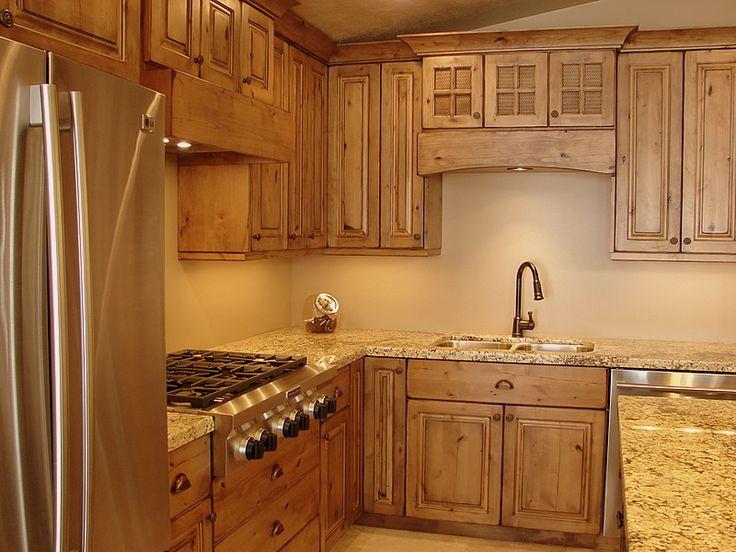 Alder cabinets pictures rustic knotty alder cabinets cabin pinterest knotty alder - Rustic wooden kitchen cabinet ...