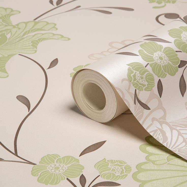 Laurence Llewelyn-Bowen Taffetia Spring Green Floral Wallpaper | Departments…