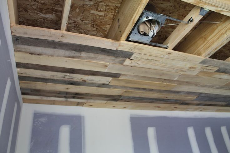 Putting Pallet Boards On A Ceiling Pallet Ceiling