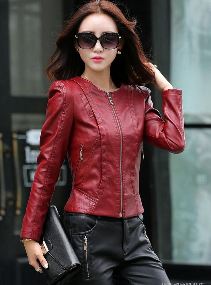 >> Click to Buy << New Coat Women Jacket Leather Clothing Female 2016 Autumn Short Slim Girl Motorcycle Leather Jackets Coats Outerwear Black #Affiliate