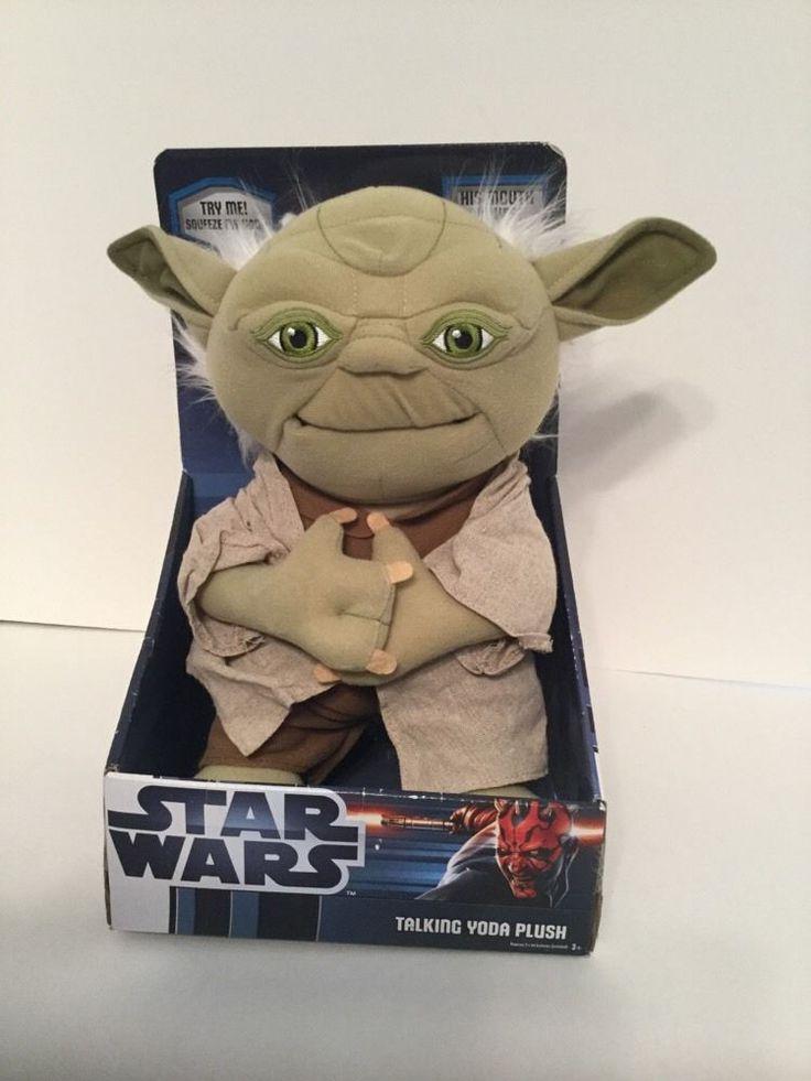 "Lucusfilms Underground Toys Star Wars 12"" Plush Talking YODA Doll New 2012"