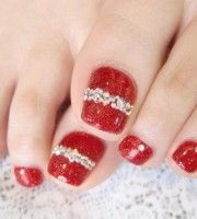 Best 25 christmas toes ideas on pinterest christmas nails cute christmas toe nail art designs prinsesfo Images