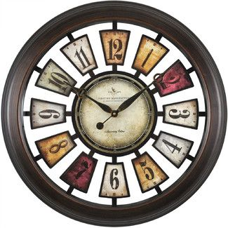 Complement The Beauty Of Your Home Decor By Adding This Round Numeral  Plaques Wall Clock From FirsTime.