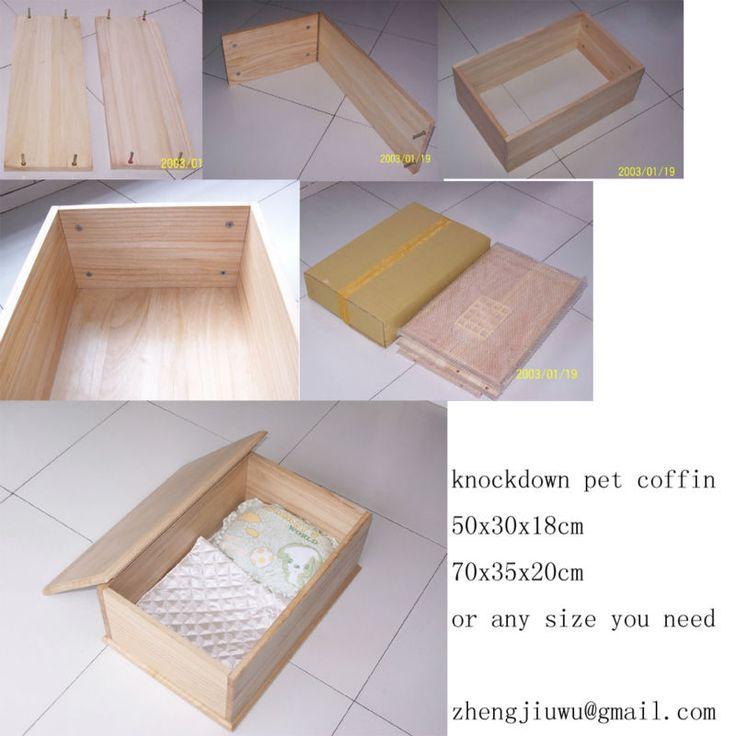 knockdown wooden pet coffin pet casket $10~$30