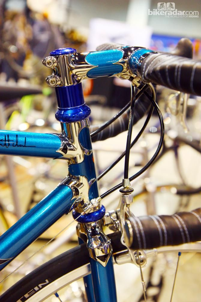 Lugs, lugs, and more lugs on this Vendetta Cycles steel road bike.
