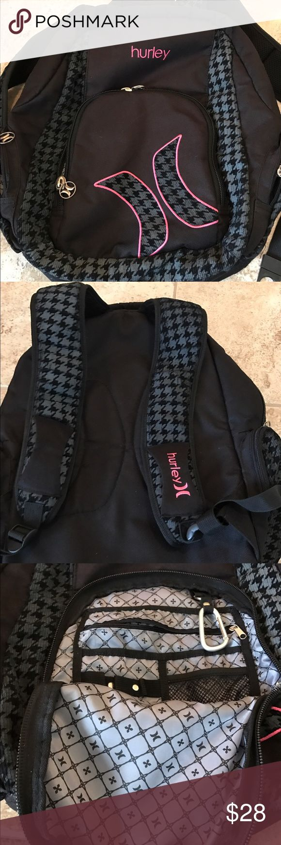 Excellent condition Hurley backpack Excellent condition Hurley backpack with nine pockets very roomy Hurley Other