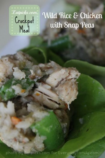 This latest crockpot recipe for Chicken and Wild Rice with Snap Peas could not be easier!