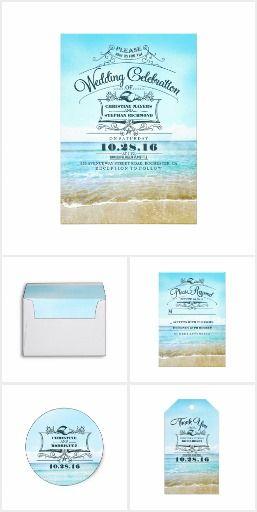 Beach Wedding Elegant Typography Suite Collection