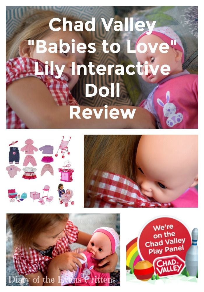 """Our review of the Chad Valley """"Babies to Love"""" Lily Interactive Doll.  http://www.evans-crittens.com/2016/10/chad-valley-babies-to-love-lily.html"""