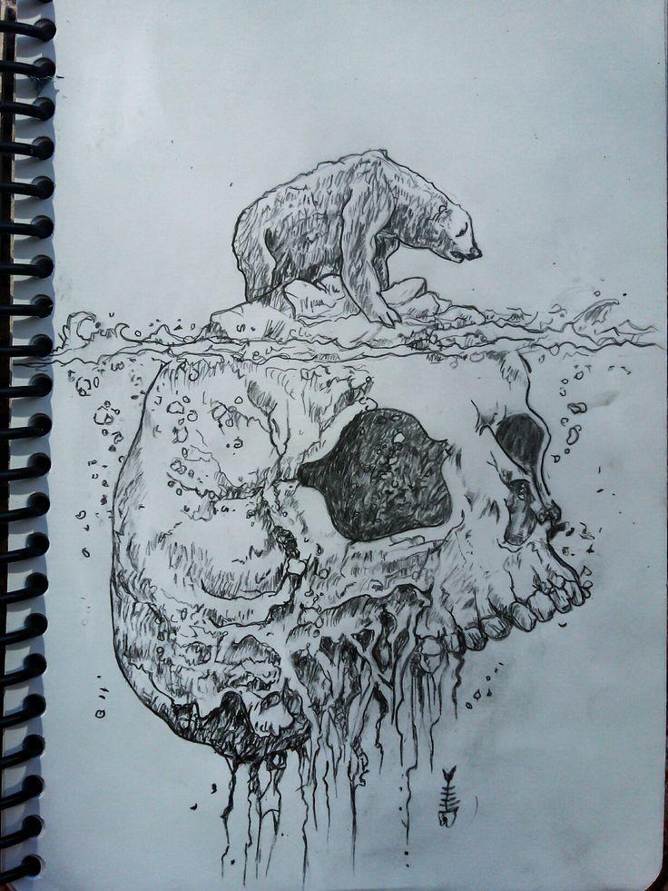 Global warming illustration sketch