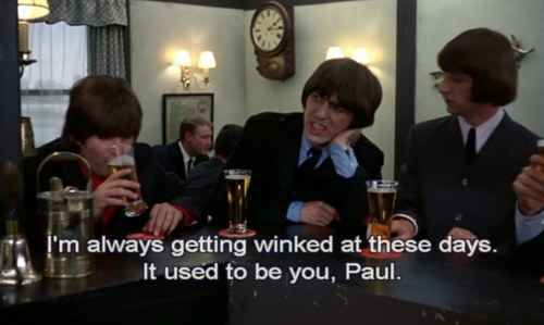 """George contemplating his growing appeal to fans. 