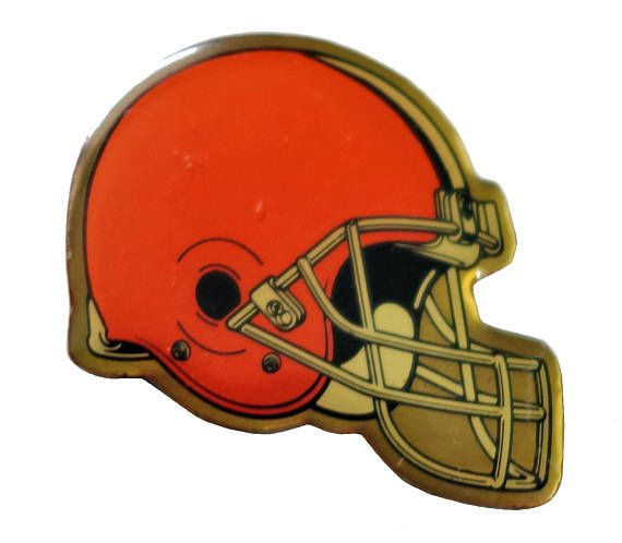 """CLEVELAND BROWNS Helmet Logo vintage enamel pin badge nfl Football Ohio by VintageTrafficUSA  14.00 USD  A vintage Browns pin! Decent condition with light scuffs. Measures: approx 1"""" These rare pins are proven to win you friends and influence people! Add inspiration to your handbag tie jacket backpack hat or wall. -------------------------------------------- SECOND ITEM SHIPS FREE IN USA!!! LOW SHIPPING OUTSIDE USA!! VISIT MY STORE FOR MORE ITEMS!!! http://ift.tt/1PTGYrG FOLLOW ME ON…"""
