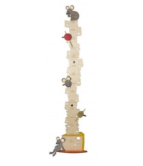 Olli Olbot 35297 Messlatte Mäuse 80-150cm Messen Kinder Wachstumsmesser Dekoration  - 2-flowerpower
