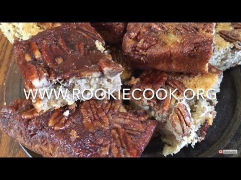 Honey Pecan Squares - Rookie Cook