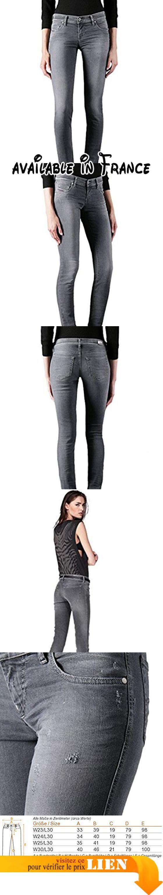 """Diesel Grupee 0667P Jeans pour femme Pantalons Slim Skinny (W24/L30, Grigio). Jeans élégant """"Grupee 0667P"""" par Diesel. Le modèle rocheux se manifeste dans le slim slim fit et attire tous les yeux. """"Grupee"""" est complété par le style classique à cinq poche, les boutons étiquetés ainsi qu'un patch en cuir sur la ceinture arrière. Une pièce à la mode pour les styles cool!. détails: • Super Slim Skinny • Collier normal • Basse taille • Style cinq poches •"""