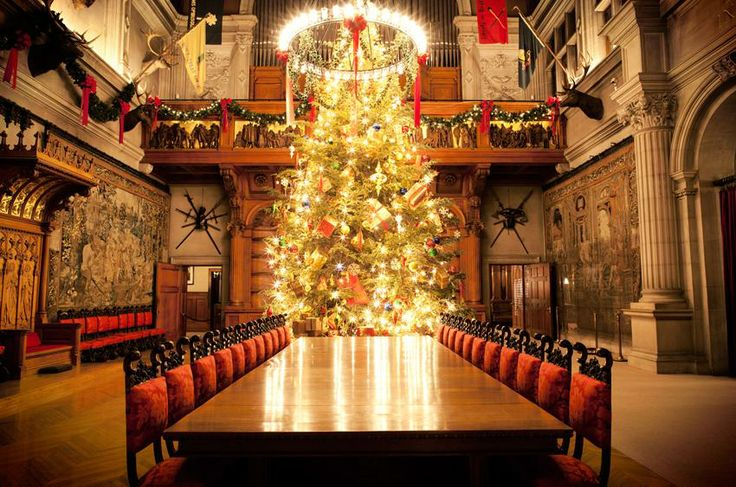 Christmas at Biltmore.  The dining hall with tree.  What a great place for a party with a few friends.