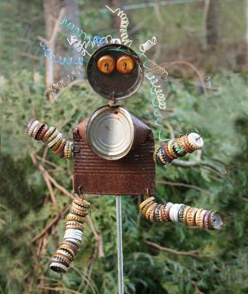 Another fun garden art gift from a friend