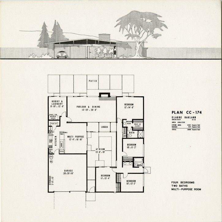 27 best eichler floorplans images on pinterest floor plans floor plan for mid century modern eichler home malvernweather Image collections