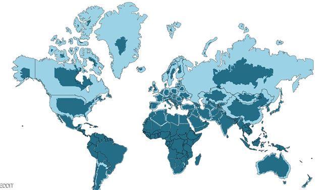 خريطة جديدة للعالم تكشف الخطأ التاريخي الفادح شبكة وكالة نيوز World Map Continents Earth World Map Flat World Map