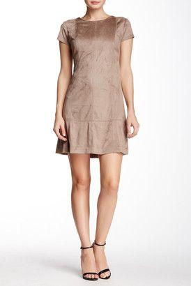 Jessica Simpson Faux Suede T-Shirt Dress - Shop for women's T-shirt - TAUPE T-shirt