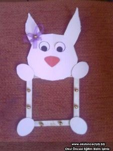 bunny frame craft,easter frame craft idea,mother's day craft idea for toddlers