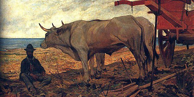 El carro rojo, 1887 Giovanni Fattori Milán, Pinacoteca di Brera