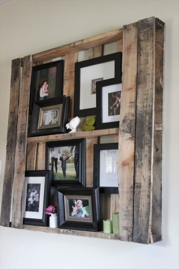 Instant shelving with this pallet furniture idea.
