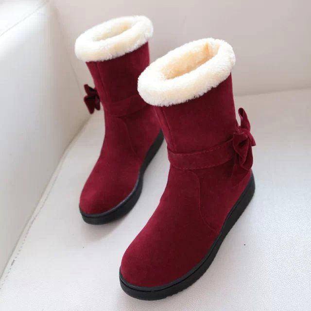 Ботинки Снежка женщин 2015 Зимняя Мода Австралия Классические Высокие Зимние сапоги Бейли Бантом Середины икры Сапоги Женская обувь Mujer Botas
