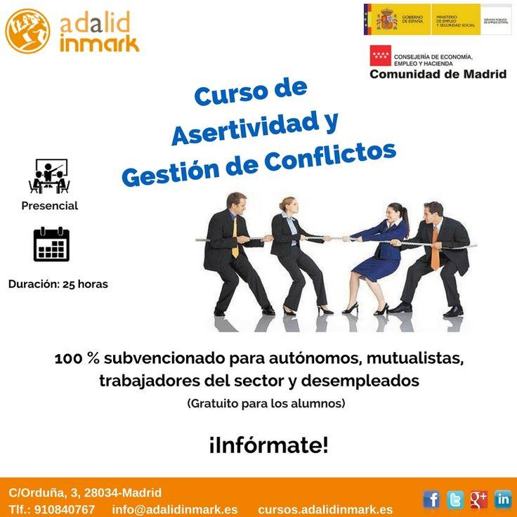 #Curso de #Asertividad y Gestión de conflictos gratuito para #trabajadores del sector, #autónomos y #desempleados.