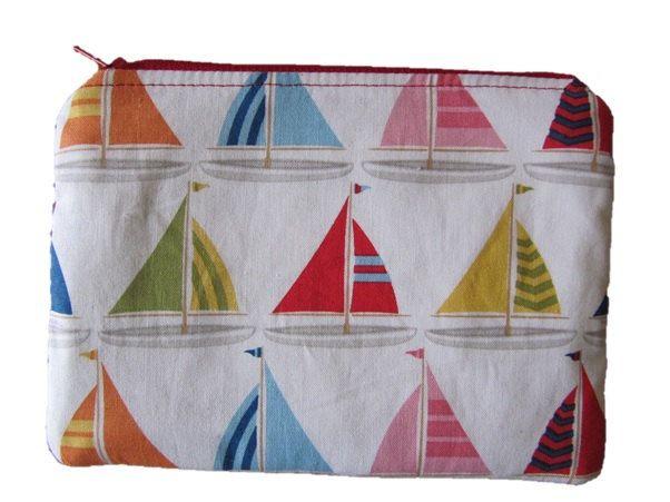 Sail Boats Makeup Bag, Cosmetic Purse, Zip Purse, Nautical, Yachts, Sailing Boats by BobbyandMeSew on Etsy