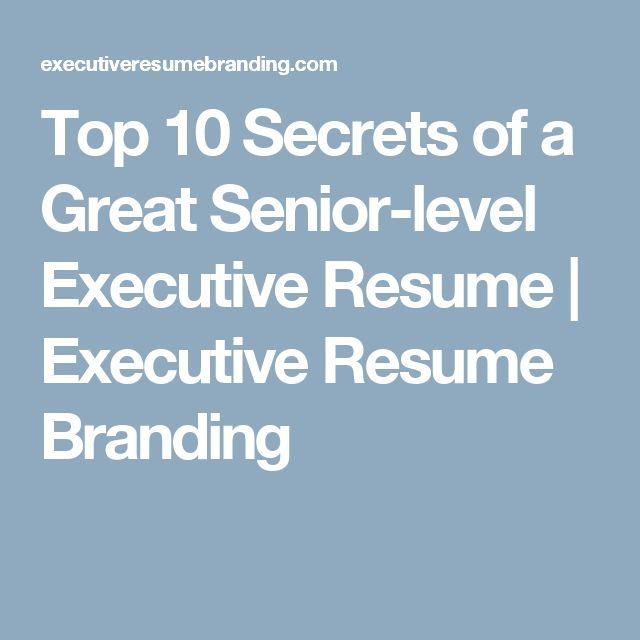 25  best ideas about executive resume on pinterest