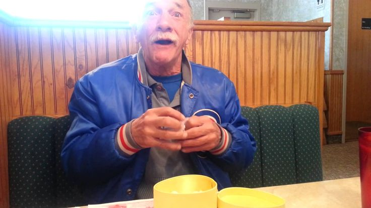 Sweetest reaction ever to finding out he's going to be a grandpa.