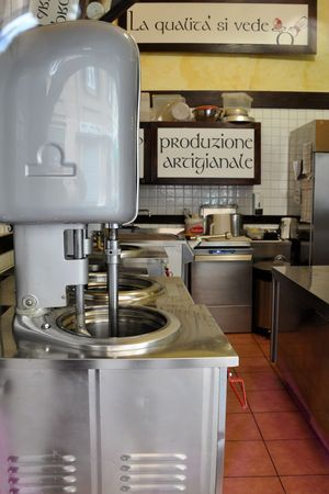 Where artisanal gelato is made at I Caruso