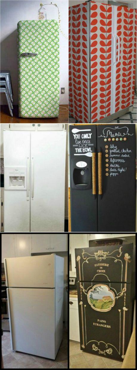 Идеи, которые помогут преобразить старый холодильник : udav102