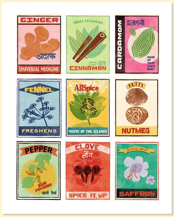 """Nine Masala Chai Spices"" Archival Print"