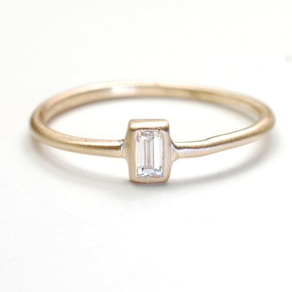 Diamond Ring Engagement Ring Baguette Diamond Ring by NIXIN, $450.00 @Etsy